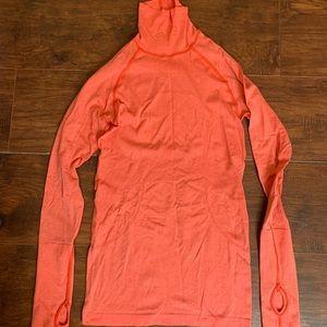 Lulu lemon orange/coral running tech shirt